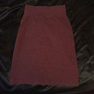 American Apparel Burgundy Skirt